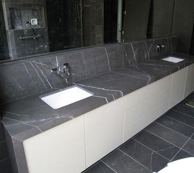 Iran Pietra Grey Marble Countertop ...
