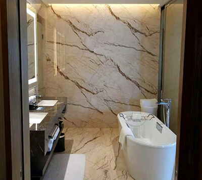 Sofita Beige Marble Bathroom Wall Cladding ...